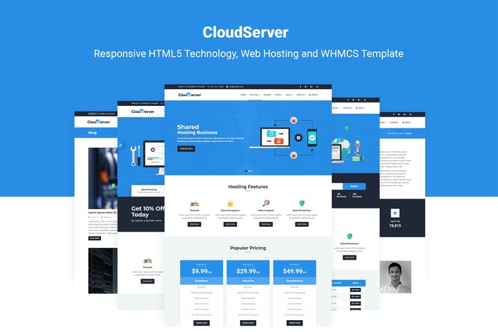 Thumbnail for CloudServer | Technology, Hosting & WHMCS Template