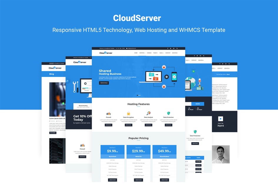 Download CloudServer | Technology, Hosting & WHMCS Template by themelooks