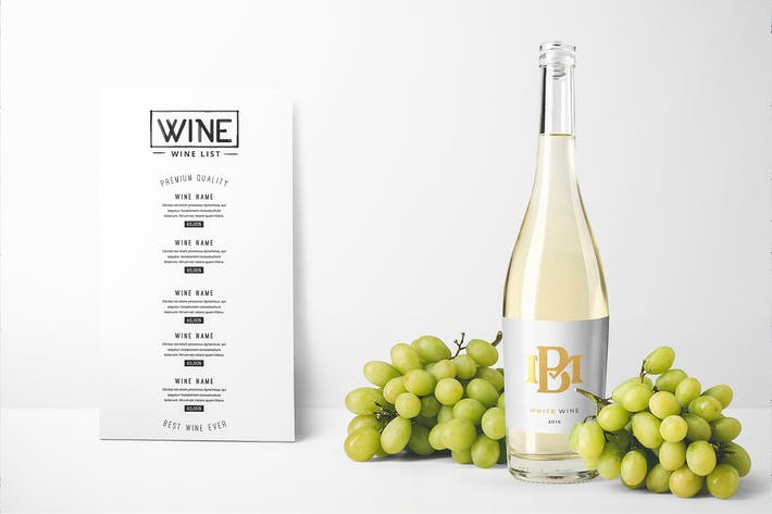 Thumbnail for Wine Bottles Mockup Vol. 2