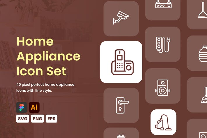 Thumbnail for Home Appliance Icon Set