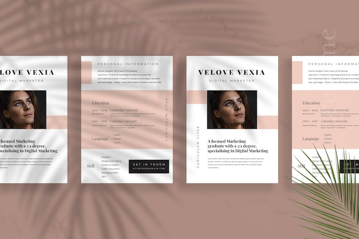 Cover Image For Minimalist CV Resume Vol 26
