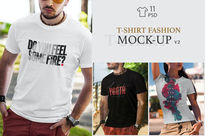 Thumbnail for T-Shirt Fashion Mock-Up v2