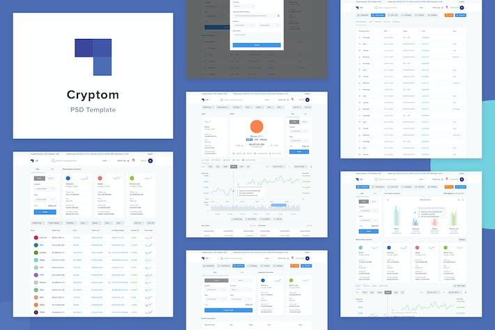Thumbnail for Cryptom- Crypto Currency PSD Template