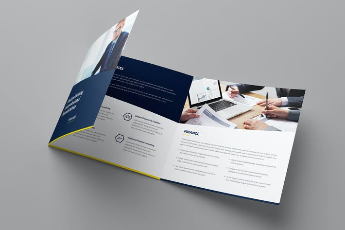 Cover Image For Brochure – Finance and Business Tri-Fold Square