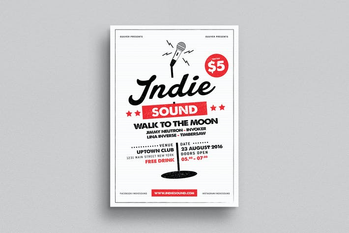 Thumbnail for Indie Sound Flyer