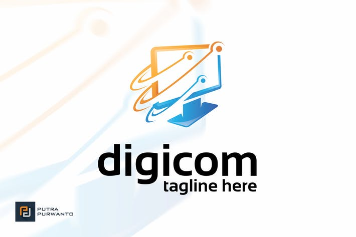 Thumbnail for Digicom - Logo Template
