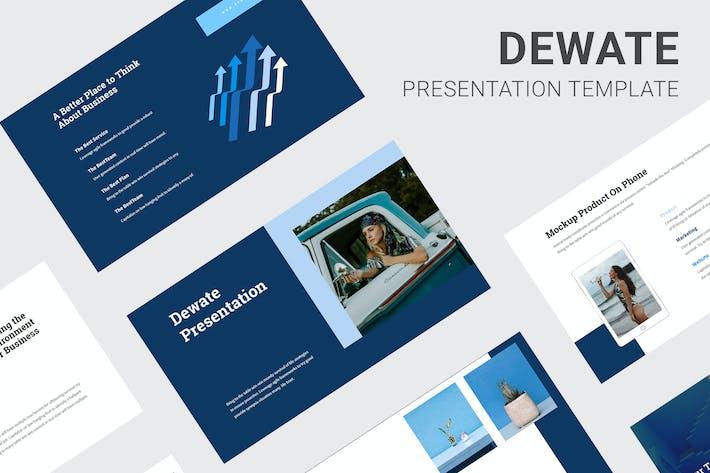 Thumbnail for Dewate - синий цвет тон Powerpoint