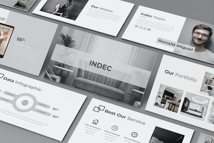 Thumbnail for INDEC — Творческий бизнес Google Слайд Шаблон