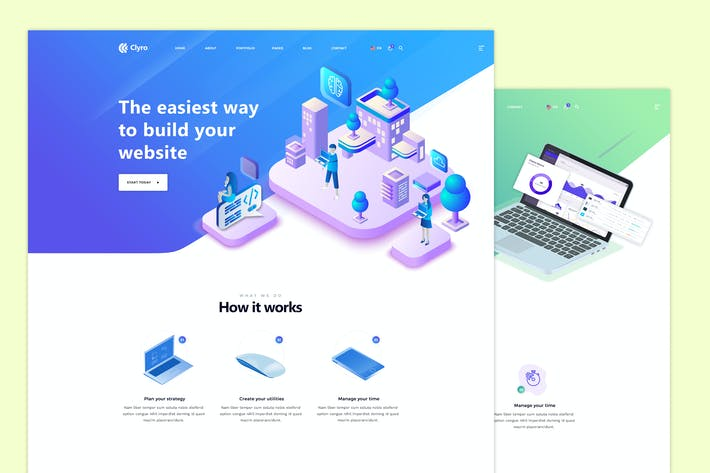 Thumbnail for Clyro - Isometric Agency PSD Template