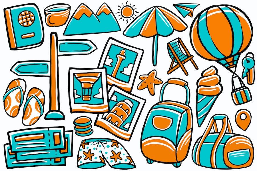 Travel Doodle Vector #02
