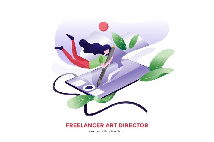 Thumbnail for Freelancer art director vector illustration