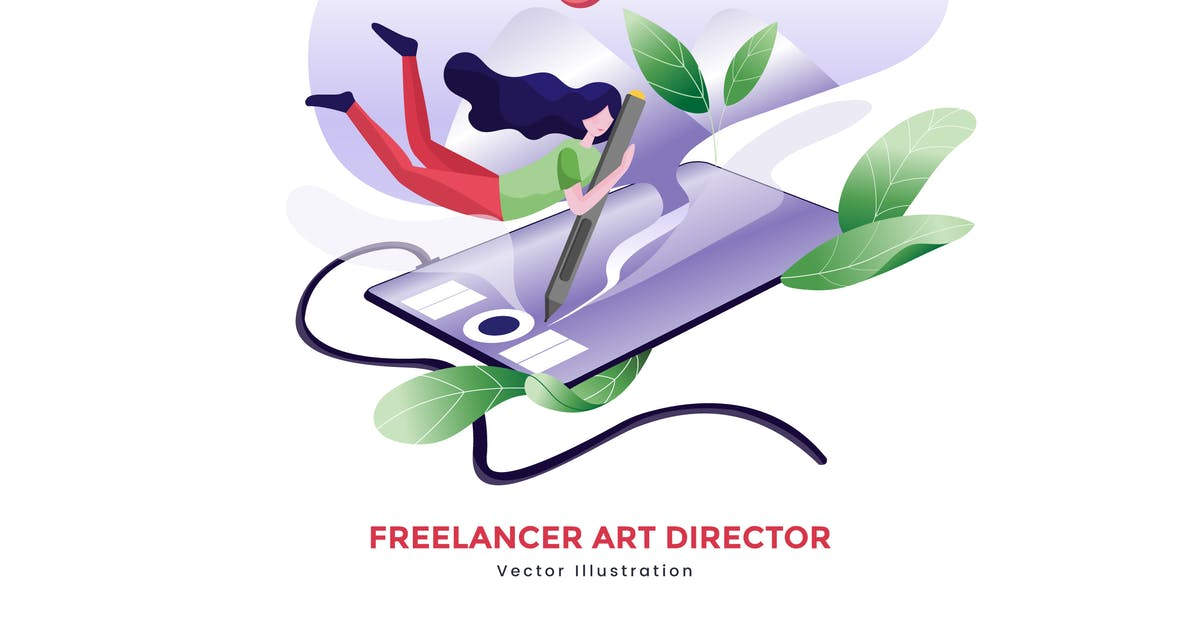 Download Freelancer art director vector illustration by YummyDs