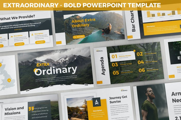 Thumbnail for Extraordinary - Bold Powerpoint Template