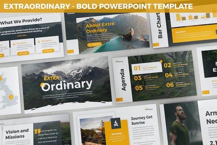 Extraordinary - Bold Powerpoint Template
