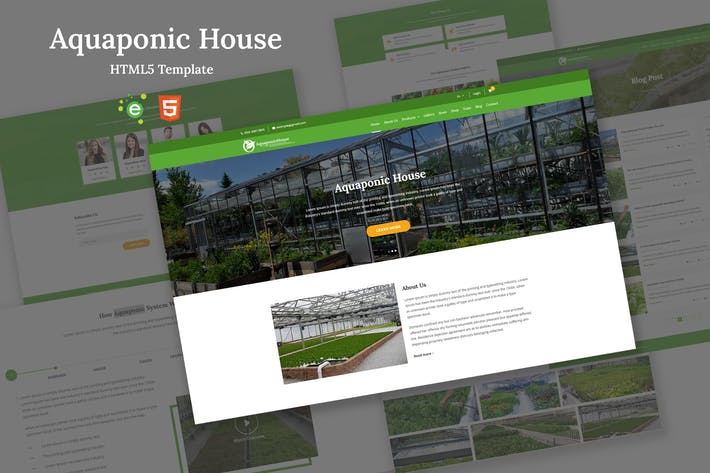 Thumbnail for Aquaponic House Bootstrap Template