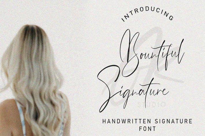 Signature abondante