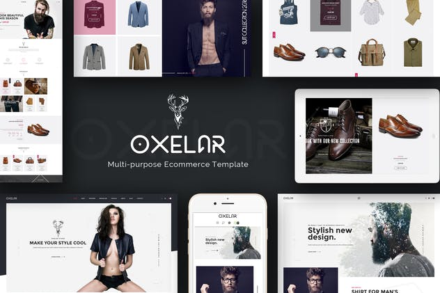 Oxelar - Multipurpose Responsive Magento Theme - product preview 1