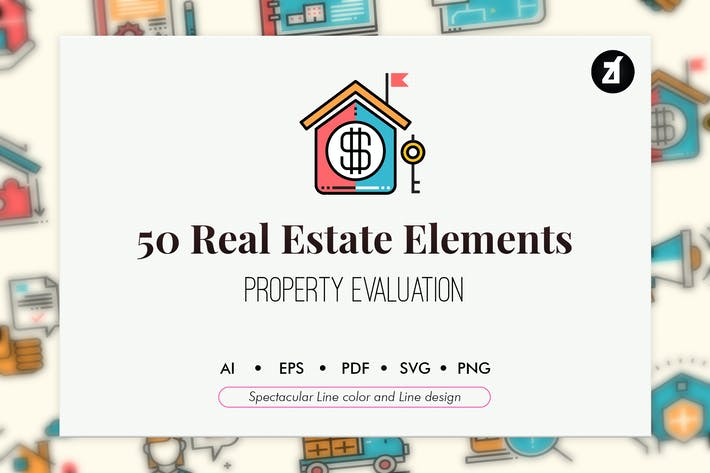 Thumbnail for 50 Real estate elements
