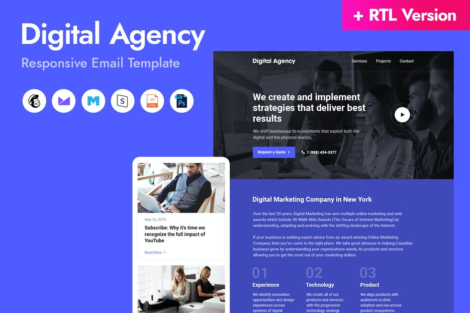 Download Digital Agency Email Template by HyperPix