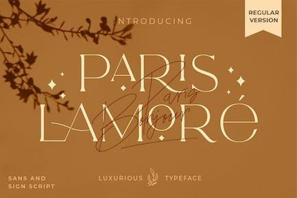 El Lamore Sans & Script Typeface- Versión regular