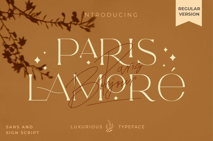 Thumbnail for El Lamore Sans & Script Typeface- Versión regular