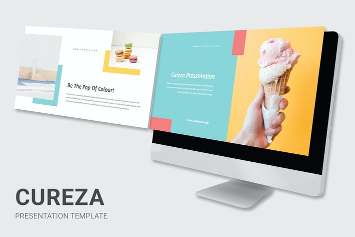 Cureza - Pastel Colors Pitch Deck Keynote