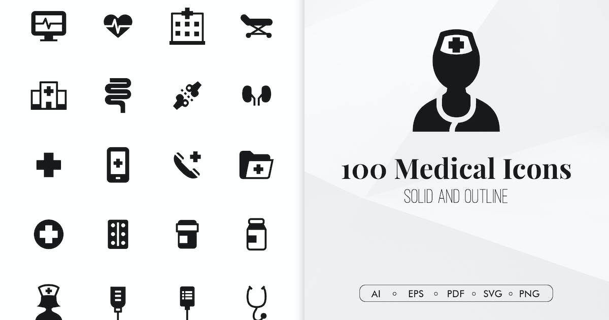 Download 100 Medical minimal icons by Chanut_industries