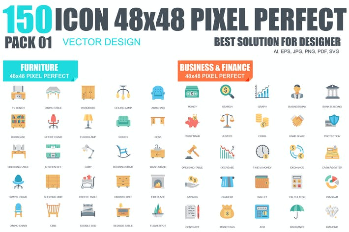 Thumbnail for Flat Icons Set