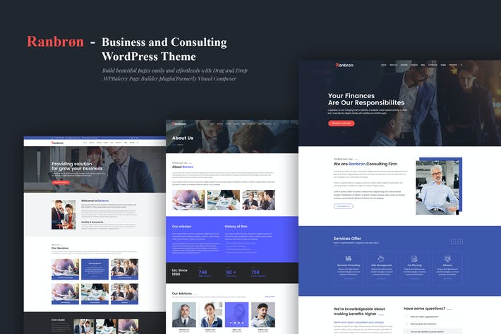 Cover Image For Ranbron - Business and Consulting WordPress Theme