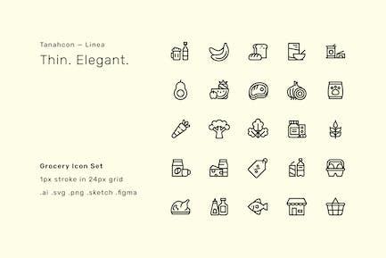 Grocery Icon Set - Linea