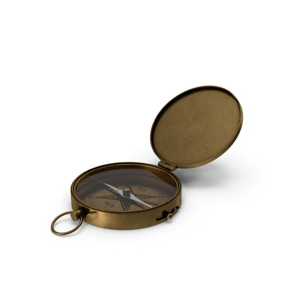 Thumbnail for Antique Brass Pocket Compass