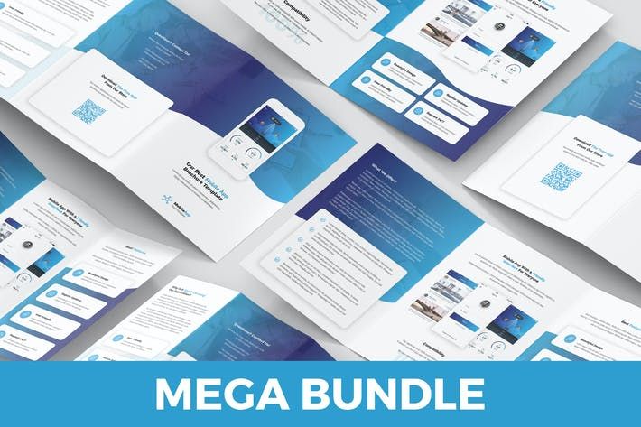 Thumbnail for Mobile App – Brochures Bundle 5 in 1