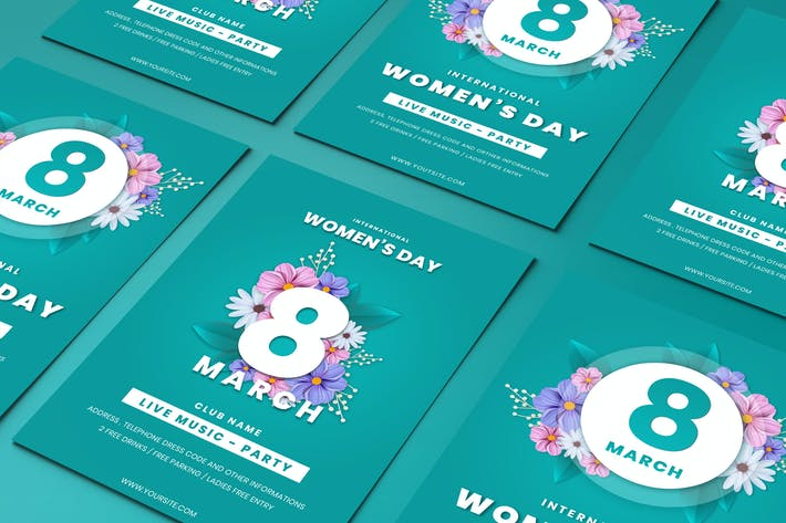 Thumbnail for Womens Day Party Flyer Templates