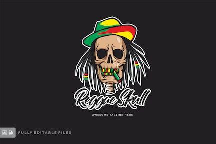 Reggae Skull Logo