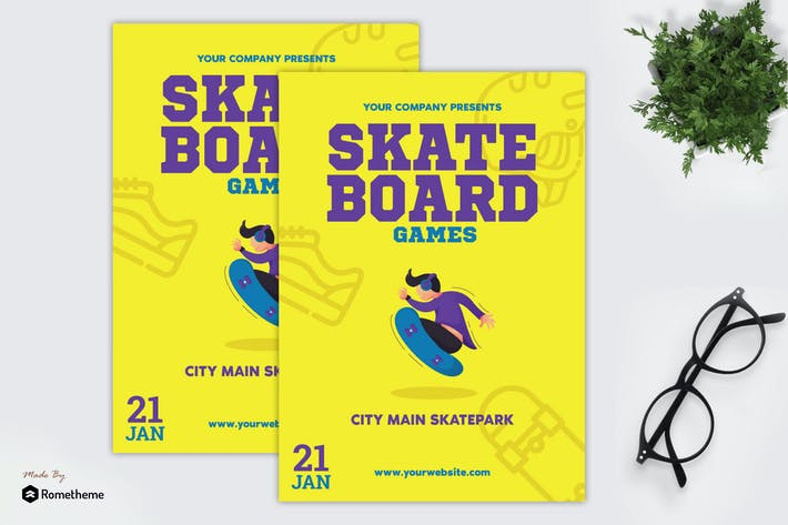 Thumbnail for Skate Board Games - Flyer GR