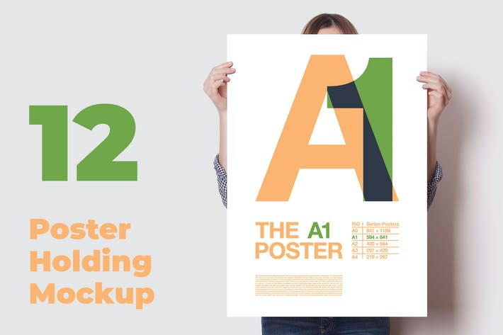 Thumbnail for Poster Mockup / 12 Different Images