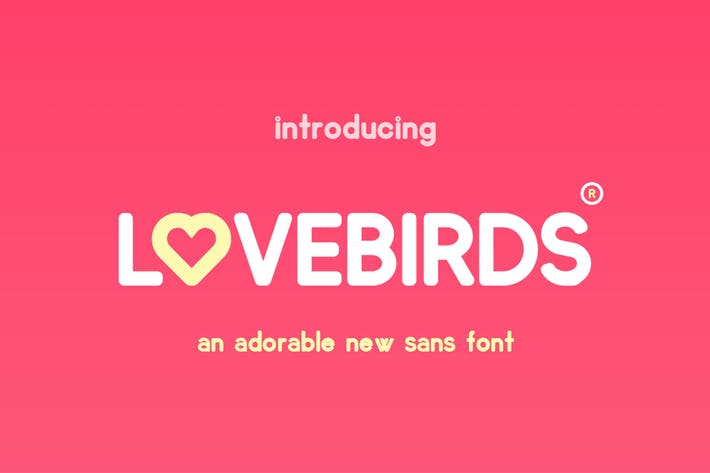 Thumbnail for Lovebirds Font