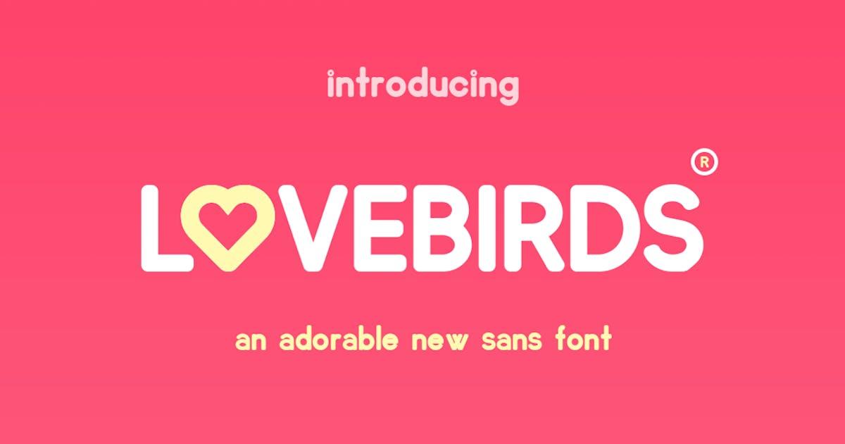 Download Lovebirds Font by maroonbaboon
