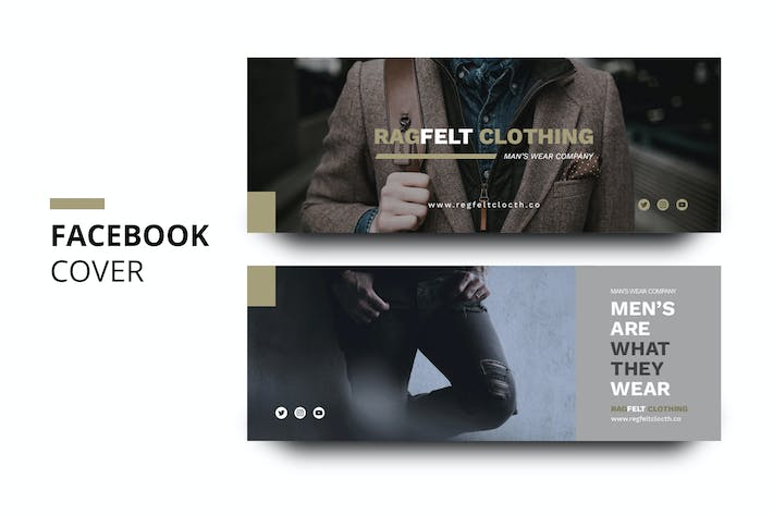 Thumbnail for Ragfelt Man Fashion Facebook Cover