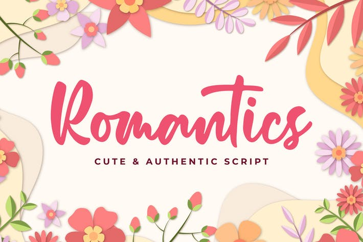 Thumbnail for Romantics - Cute & Authentic Script
