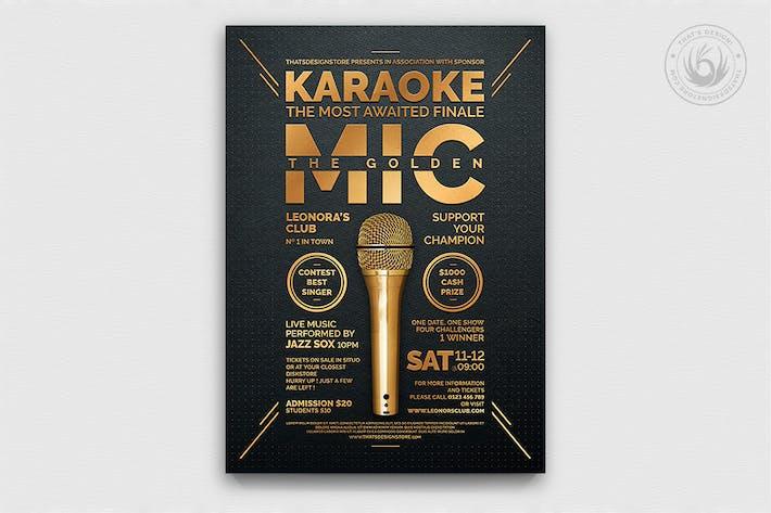 Cover Image For Karaoke Flyer Template V8