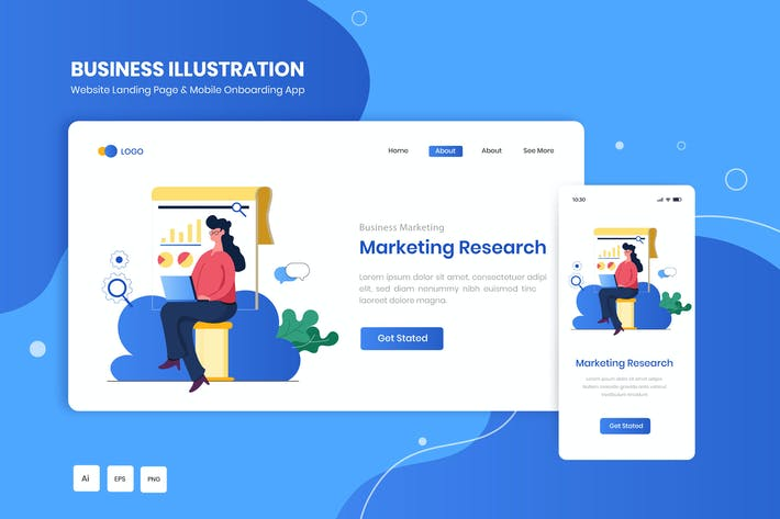 Marketing Research Illustration Kit