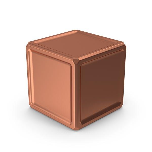 Куб бронзовый