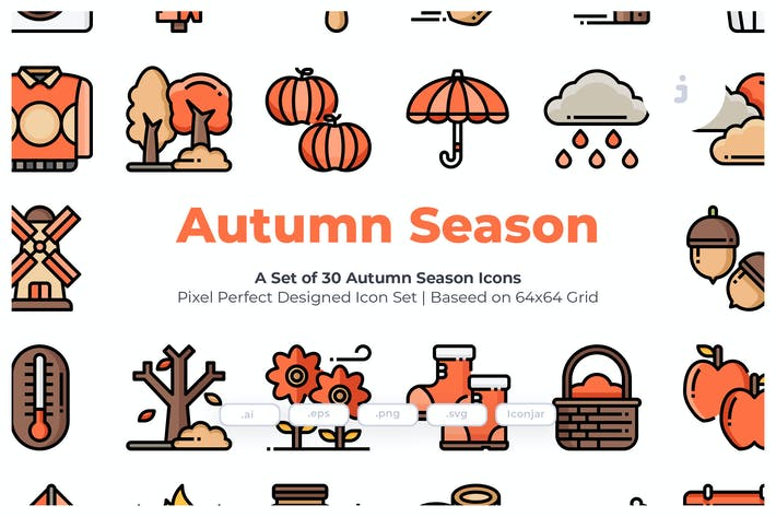 Thumbnail for 30 Autumn Season Icons