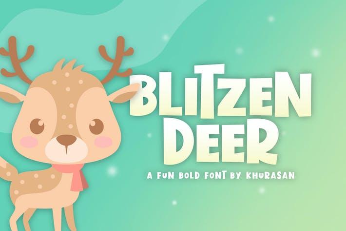 Thumbnail for Blitzen Deer Font