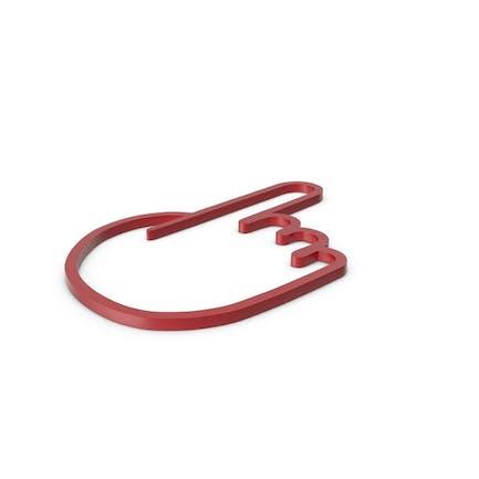 Icono rojo de un dedo