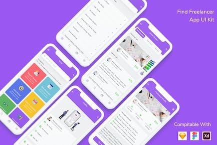 Find Freelancer App UI Kit