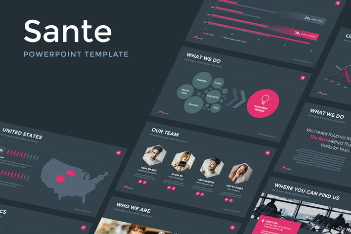 Cover Image For Sante - Powerpoint Template