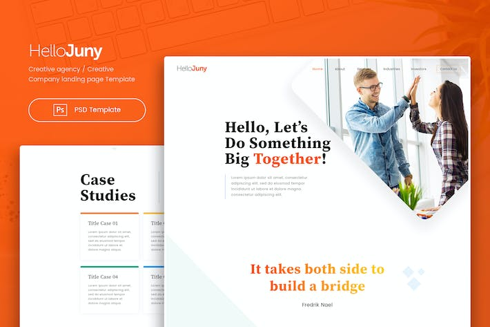 Thumbnail for HelloJuny - Creative Company Landing Page Template