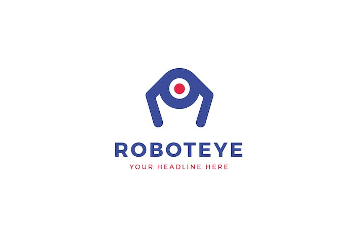 Thumbnail for Robot Eye Logo Template